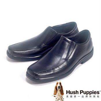 Hush Puppies 經典直套皮鞋男鞋-黑