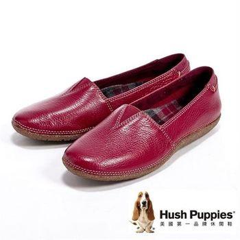 Hush Puppies經典內裏格紋休閒鞋女鞋-紅(另有深咖)