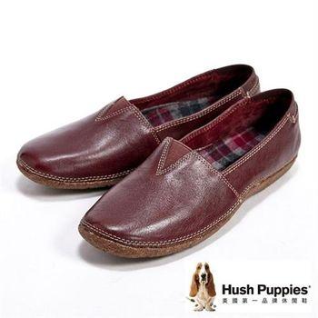 Hush Puppies經典內裏格紋休閒鞋女鞋-深咖(另有紅)