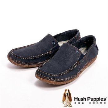 Hush Puppies FRANKLIN PROFILE都會休閒直套型男鞋-藍