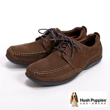 Hush Puppies 簡約率性綁帶休閒鞋-咖啡(另有褐)