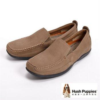 Hush Puppies 極簡品味紳士休閒鞋-褐(另有深藍)