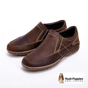 Hush Puppies Bounce彈力雙鞋墊直套鞋-咖(另有黑)