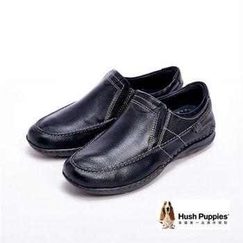 Hush Puppies Bounce彈力雙鞋墊直套鞋-黑(另有咖)