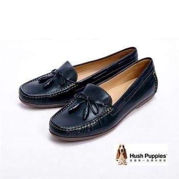 Hush Puppies 繽紛巴西設計樂福鞋-黑(另有深藍)