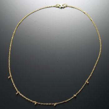 D.M.金珠黃金項鍊