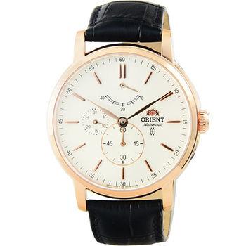 ORIENT 東方錶動力儲存藍寶石機械皮帶錶-玫瑰金 / FEZ09006W (原廠公司貨)
