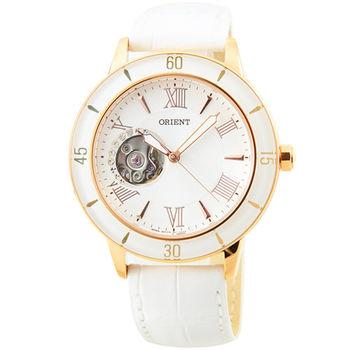 ORIENT 東方錶經典鏤空機械皮帶錶 / FDB0B001W (原廠公司貨)