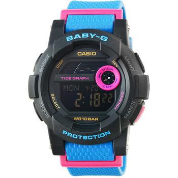 CASIO 卡西歐Baby-G 少女時代彩色電子錶-藍紫 / BGD-180-2