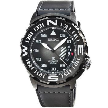SEIKO 精工 PROSPEX 機械皮帶腕錶-IP黑 / SRP579K1