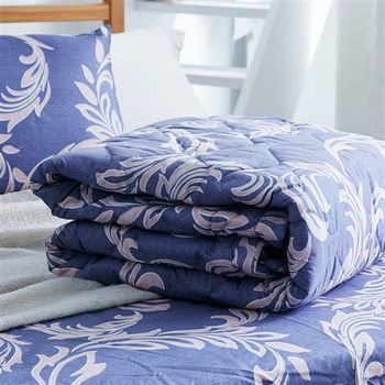 【美夢元素】弗蘭 天鵝絨 雙人四件式涼被床包組