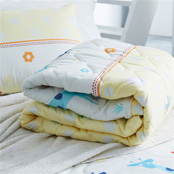 【美夢元素】可愛頌 天鵝絨 雙人加大四件式涼被床包組