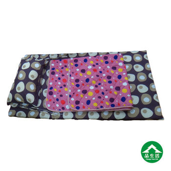 【品生活】捲床組3x6尺單人-(床墊+枕頭+涼被)-普普風咖