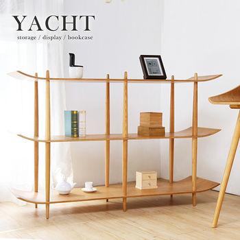 【H&D】自然木作 Yacht帆船造型書架陳列架-5尺