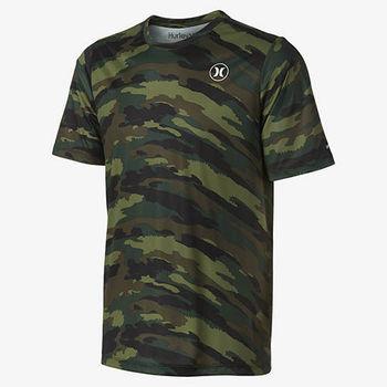 Hurley X Nike Dri-FIT 科技 - DRI-FIT CAMO S/S SURF TEE 衝浪T恤-DRI-FIT - 男(迷彩綠)-行動