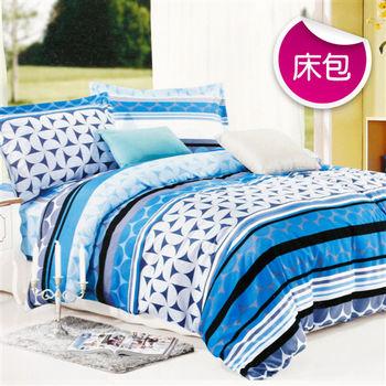 【R.Q.POLO】藍色天空 絲棉柔-單人床包枕套組(3.5X6.2尺)