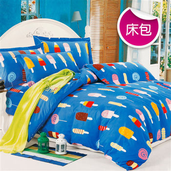 【R.Q.POLO】夏日大作戰 絲棉柔-雙人加大床包枕套組(6X6.2尺)