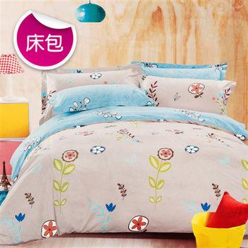 【R.Q.POLO】花田暖夢 絲棉柔-雙人標準床包枕套組(5X6.2尺)