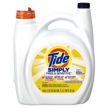 【美國 Tide】濃縮洗衣膏-敏弱肌膚專用/2入箱購(138oz/4080ml*2)