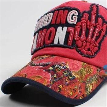 【米蘭精品】棒球帽牛仔刷布獨創字母個性街頭遮陽帽子56g72