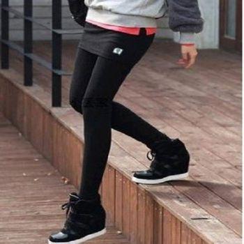 [協賀]假兩件韓版修身潮長褲