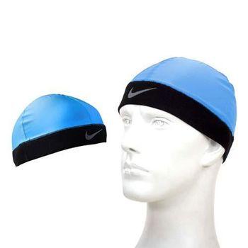 【NIKE】PRO 酷帽-單車 自行車 慢跑 瓜皮帽 藍
