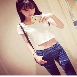 [協賀]韓版簡約東森嚴選高腰顯瘦女純色上衣