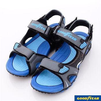 GOODYEAR戶外鞋戶外速乾涼拖鞋-GAMS43716-男鞋-灰藍