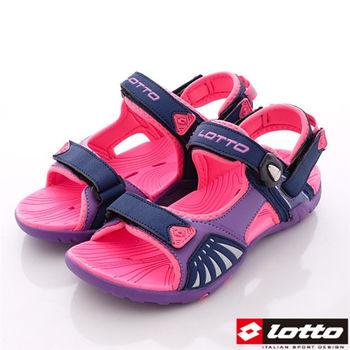 Lotto樂得-水陸強力磁扣夜間反光運動涼鞋-WS3177女款-紫
