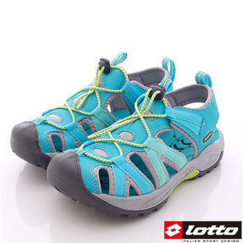 Lotto樂得-水陸兩用束帶夜間反光運動護趾涼鞋 運動拖鞋 運動涼鞋-WS3165-女款-湖水綠