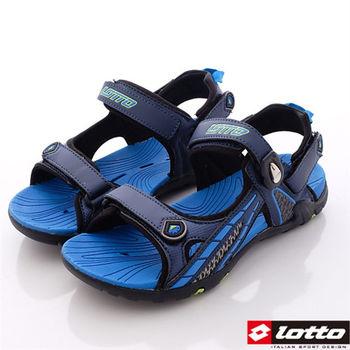 Lotto樂得-強力磁扣排水運動涼鞋 運動拖鞋 -MS3136男款-藍