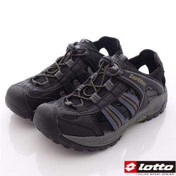 Lotto樂得-水陸兩用運動護趾涼鞋-MS3118男款-深灰綠