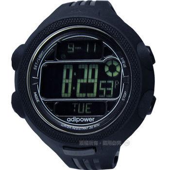 adidas 愛迪達 / ADP3121 / adiPower 能量爆發運動電子腕錶 黑