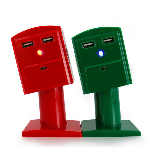 【SUMER】趣味彎腰郵筒雙喇叭音響行動電源(兩色可選)