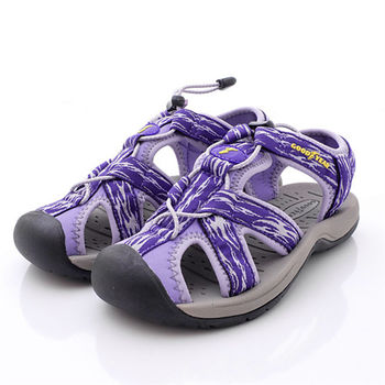 GOODYEAR戶外鞋-輕量透氣護趾涼鞋女款-淺紫