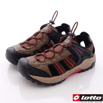 Lotto樂得-水陸兩用運動護趾涼鞋 運動拖鞋 運動涼鞋男款-咖啡