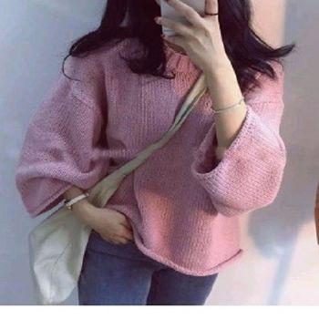 [協賀]圓領針織毛衣