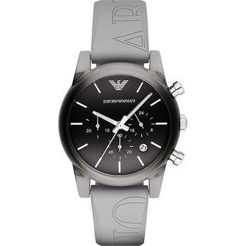 Armani Classic 時尚三眼計時腕錶-漸層x灰/41mm AR1063