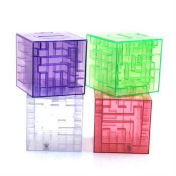 【ZARATA】智力迷宮透明水晶倒珠存錢筒(1入)