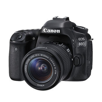 【Canon】EOS 80D+18-55mm STM變焦鏡組(公司貨)