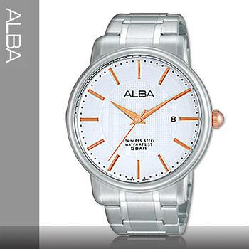 【SEIKO 精工 ALBA 系列】品味優雅紳士錶款_經典不鏽鋼男錶(AS9743X1)