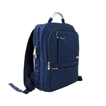 estilo - 西班牙品牌 休閒雅痞系列 商務風格 機能後背包 -深藍
