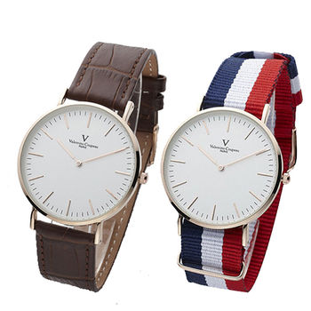 Valentino Coupeau 簡約時尚超薄腕錶(送帆布錶帶)