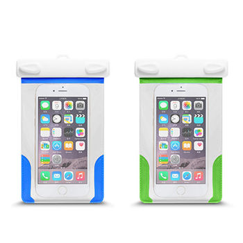 卡扣設計 透明 可觸控手機防水套/防水袋 附臂帶