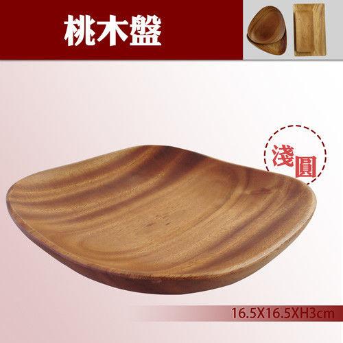 【餐廚用品】日式桃木盤-淺圓