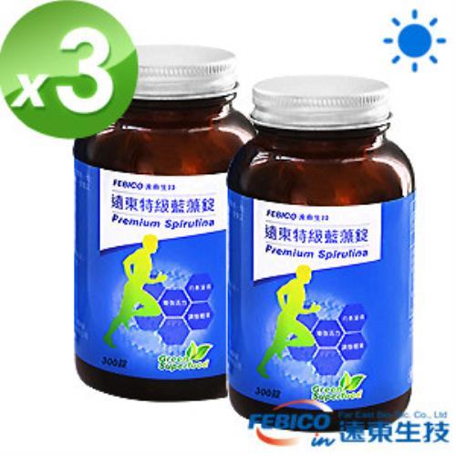 遠東生技 特級藍藻3瓶組(200mg*300錠)