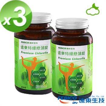 遠東生技 特級綠藻3瓶組(200mg*600錠)