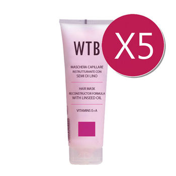義大利原裝 WTB昂賽芙 護髮超值組 亞麻籽油 護髮膜(需沖洗) 250mlx5