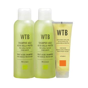 義大利原裝 WTB昂賽芙 洗護超值組 果酸賦活洗髮 1000mlx2+果酸賦活潤護髮膜250ml
