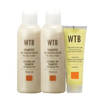 義大利原裝 WTB昂賽芙 洗護超值組 椰果控油洗髮 1000mlx2+果酸賦活潤護髮膜250ml